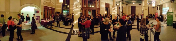 Holiday party photo