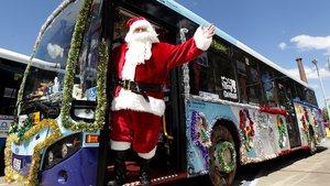 Christmas bus with Santa