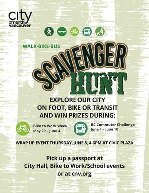 Commuter Challenge -Scavenger-Hunt-POSTER