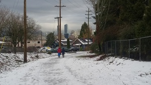 Arbutus Greenway - people on path 2